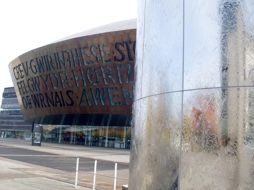 Detalhe do Wales Millennium Center