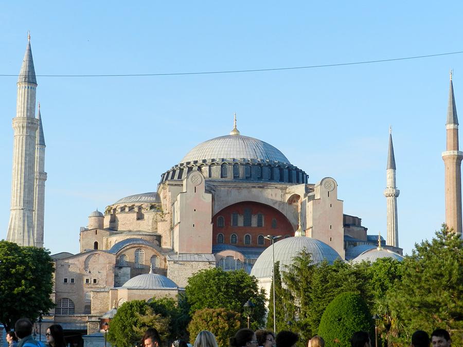Fachada da Igreja de Santa Sofia, Istambul, Turquia