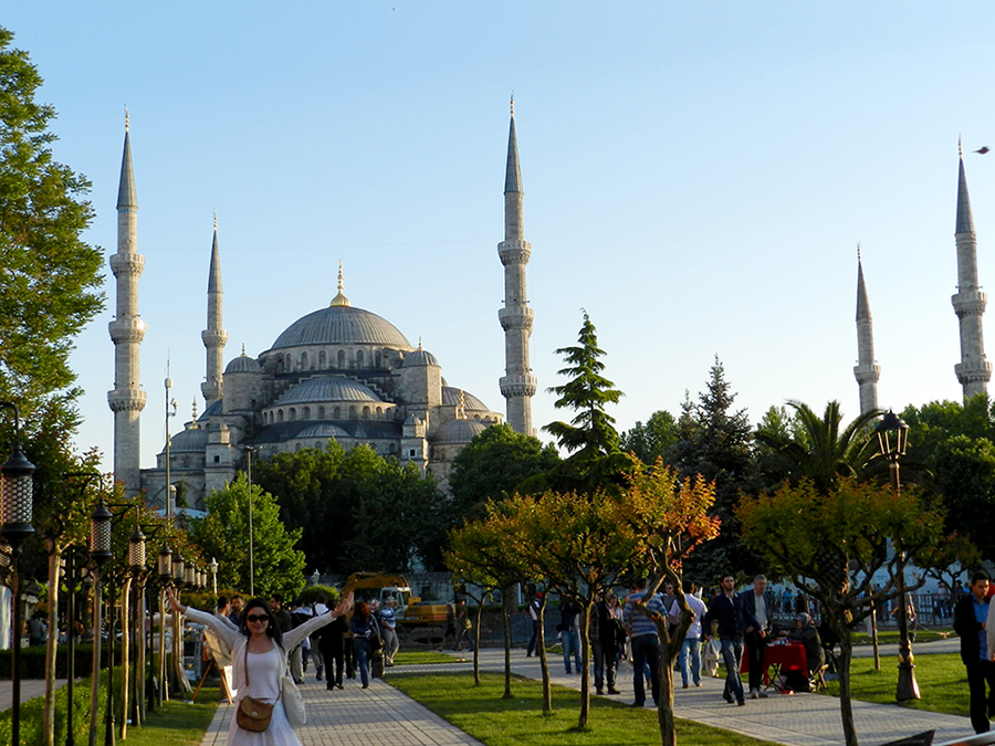 Fachada da Mesquita Azul, Istambul, Turquia