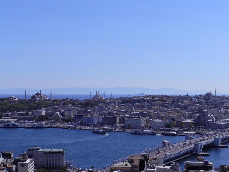 Vista da Torre de Gálata em Istambul na Turquia