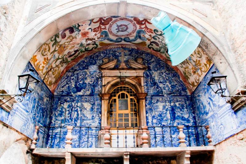 A vila medieval de Obidos em Portugal