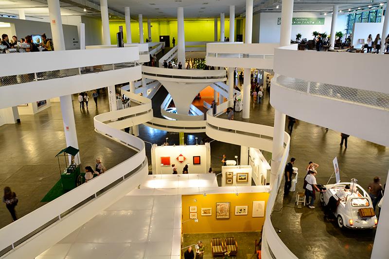 SP-Arte 2017 no Pavilhão da Bienal em São Paulo, Brasil