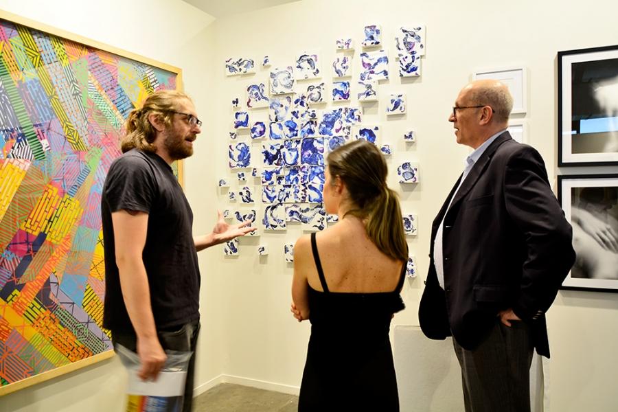 Stand Rotas Belas Artes na SP-Arte 2017 no Pavilhão da Bienal em São Paulo, Brasil