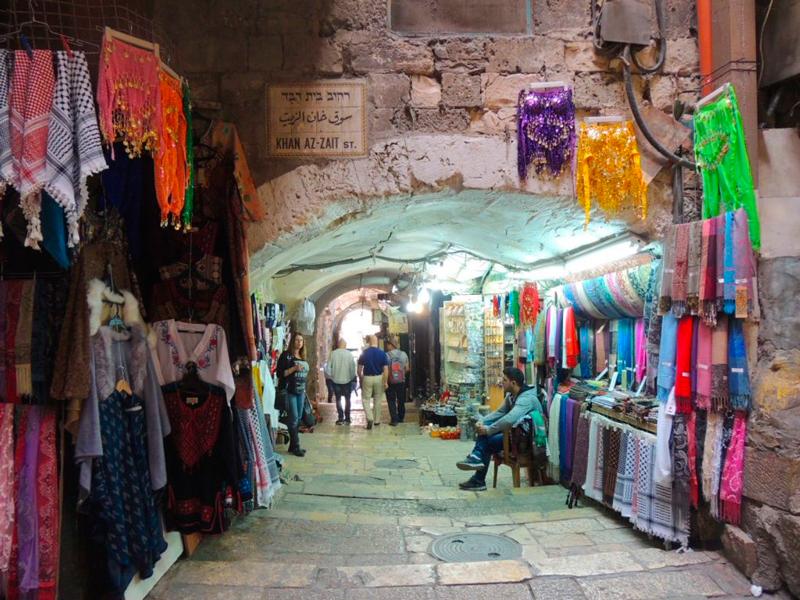 mercado registrado na Viagem a Belém e Jerusalém em Israel