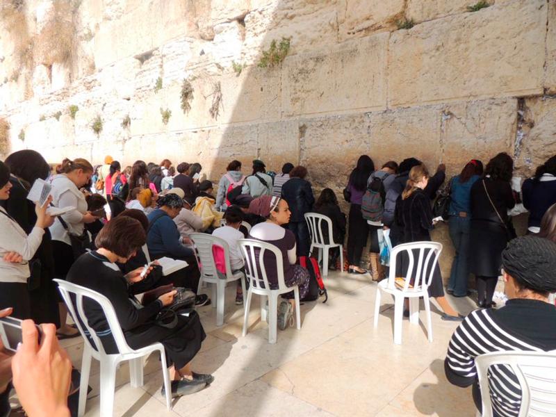 Muro das lamentações parte feminina na Viagem a Belém e Jerusalém em Israel
