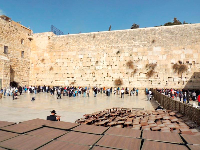 muro das lamentações na Viagem a Belém e Jerusalém em Israel