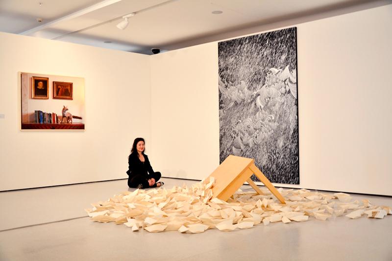 Obra de Sandra Cinto no MAC USP Museu de Arte Contemporânea de São Paulo