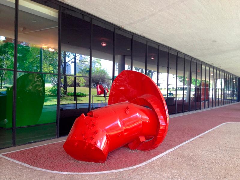escultura no parque do ibirapuera em são paulo