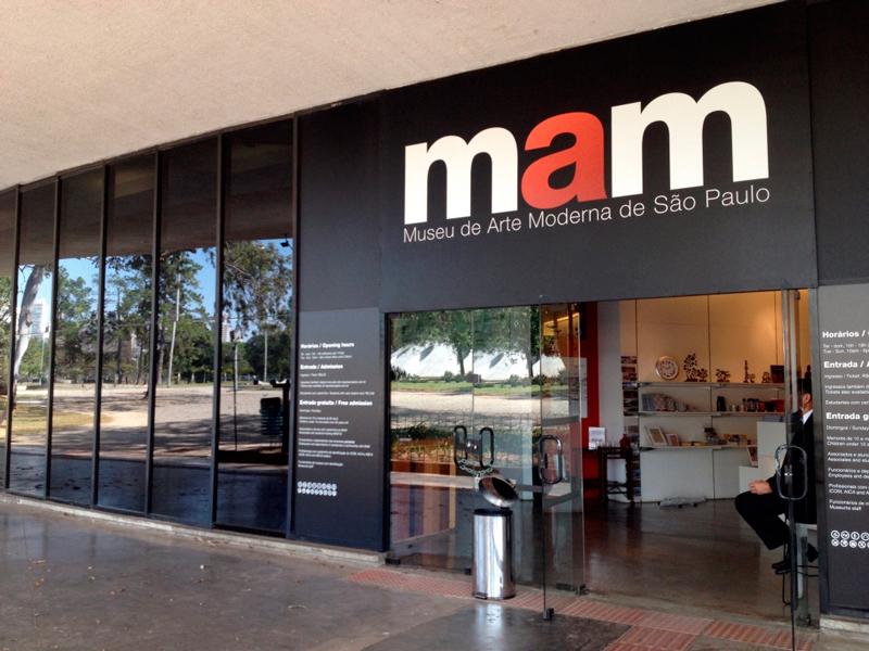 Entrada do MAM Muse de arte moderna no aprque do ibirapuera em são paulo