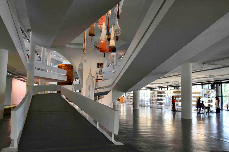 Bienal de Arte no prédio da Bienal no Parque do Ibirapuera em São Paulo
