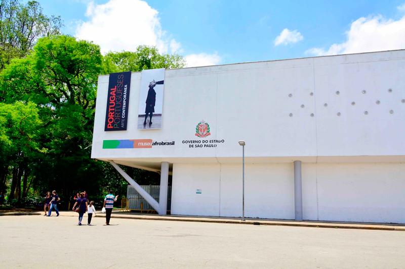 Fachada do museu afro brasil no parque do ibirapuera em são paulo