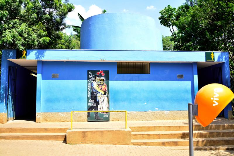 Um dos banheiros públicos do parque do ibirapuera em sao paulo
