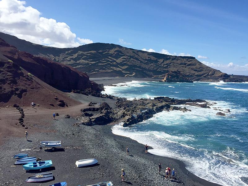 Praia de El Golfo, Lanzarote, Ilhas Canarias, Espanha