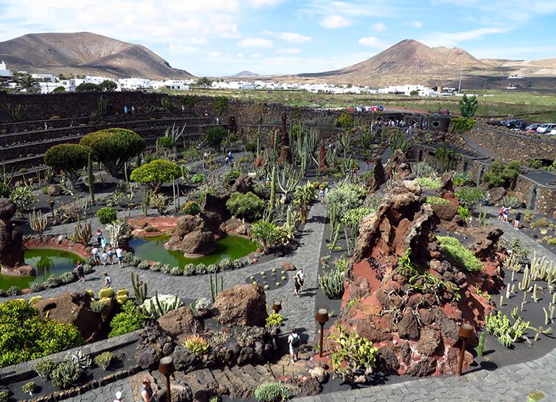 Jardim de cactos, Lanzarote, Ilhas Canarias, Espanha