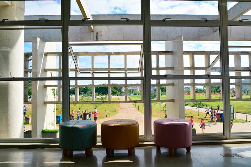 Biblioteca Parque Villa-Lobos em São Paulo, Brasil