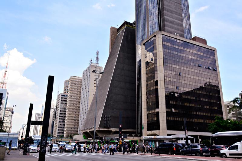 Prédio da FIESP na Avenida Paulista em São Paulo