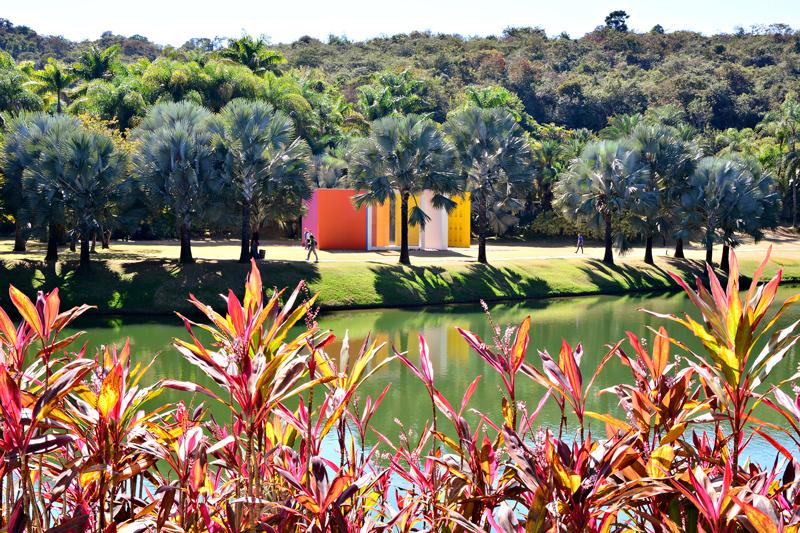rota rosa do instituto inhotim em brumadinho minas gerais brasil e museu de arte contemporânea e jardim botânico