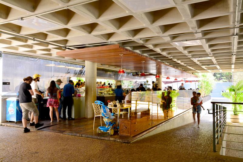 Centro de Educação e Cultura Burle Marx da rota rosa do instituto inhotim em brumadinho minas gerais brasil e museu de arte contemporânea e jardim botânico