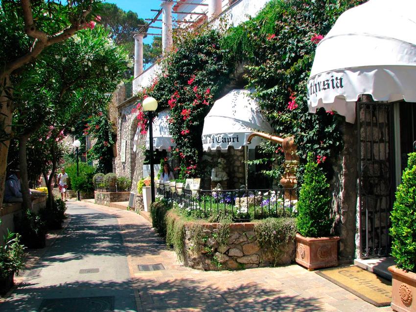 Via Camerelle na Ilha de Capri na Italia
