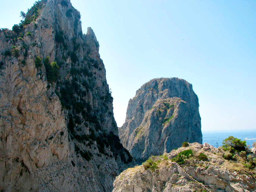arco natural da Ilha de Capri na Italia