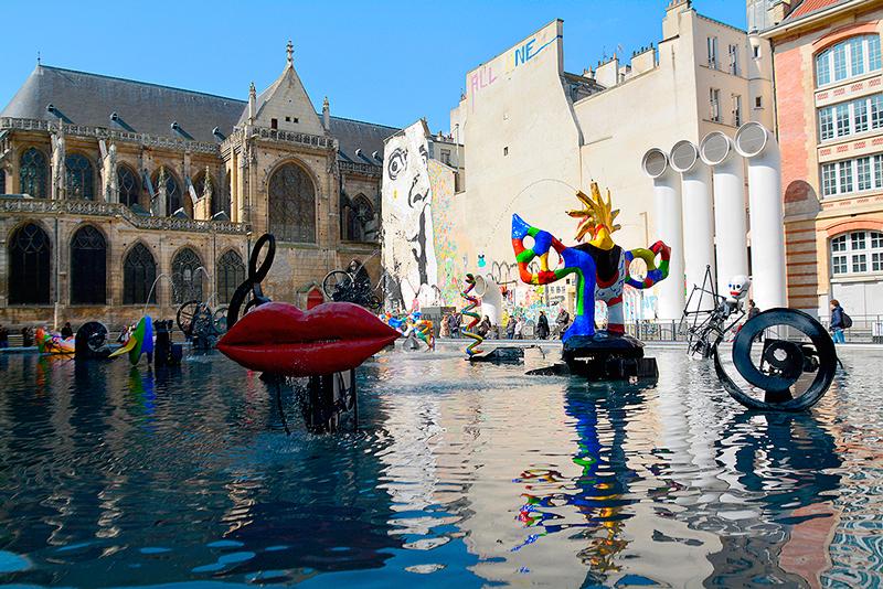 La Fontaine Stravinsky, Paris, France