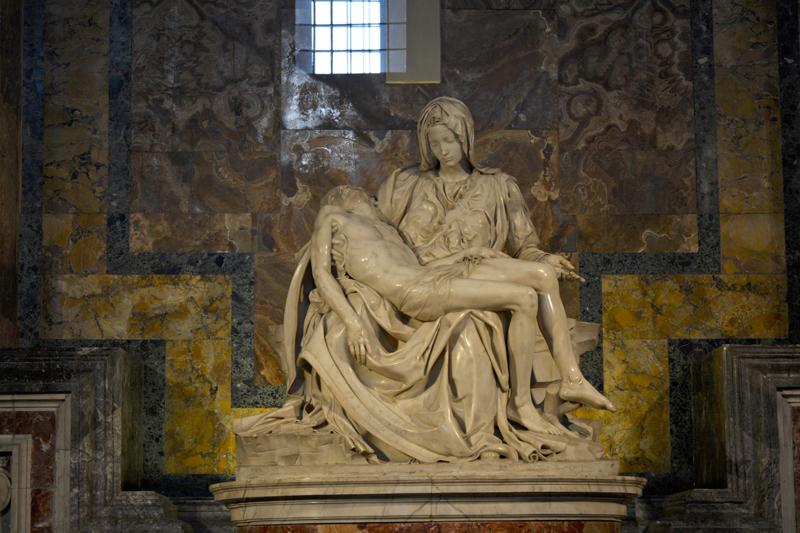 Pietà di Michelangelo, Basilica de San Pietro, Vaticano, Italia - Basílica de São Pedro