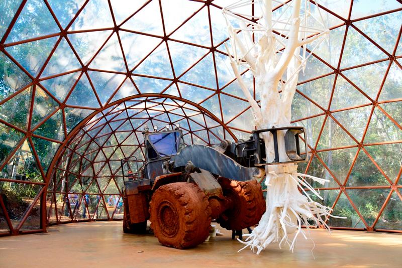 obra de Matthew Barney no Instituto Inhotim - Rota Rosa