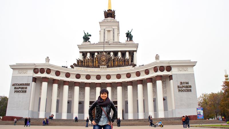 Morar em Moscou, Moscou, Rússia, Parque VDKH