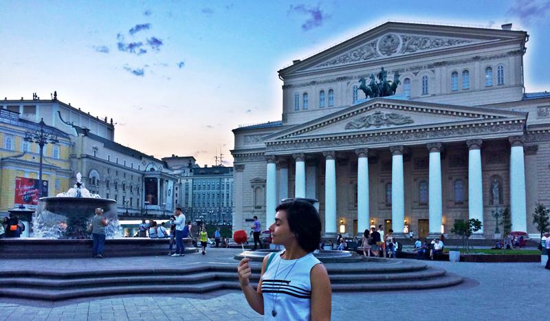 Morar em Moscou, Moscou, Rússia, Teatro Bolshoi