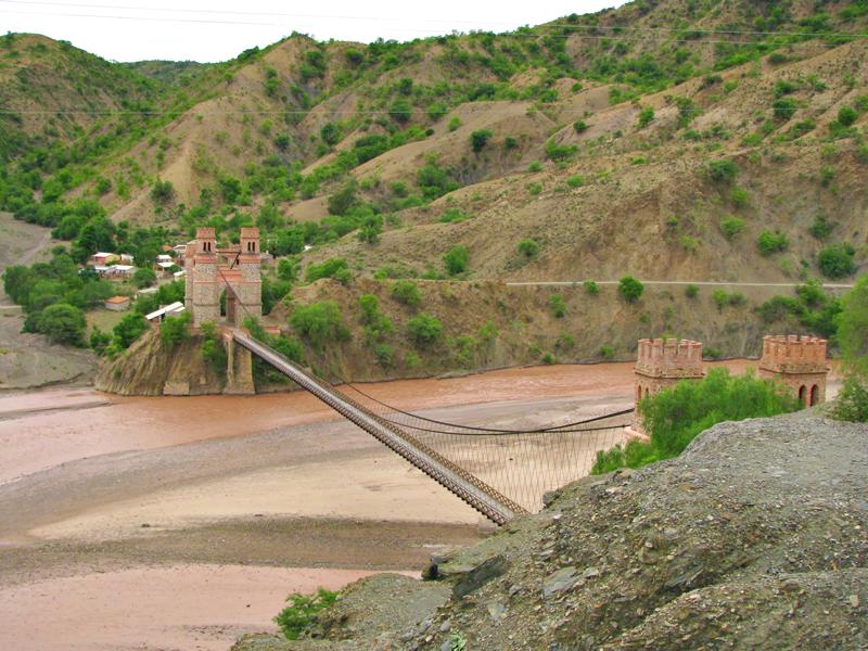 Potosi, Bolivia, Puente Méndez sobre o rio Pilovoayo