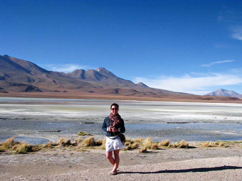 Laguna no salar, Bolívia