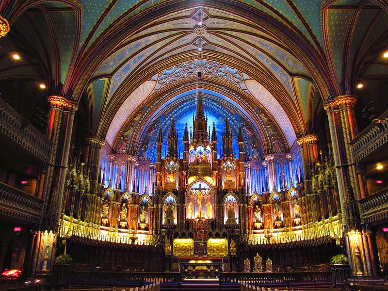 Basilica de NOtre Dame de Montreal, Dicas de Viagem Carnaval de Inverno MOntreal, Quebec, Canada, America do Norte
