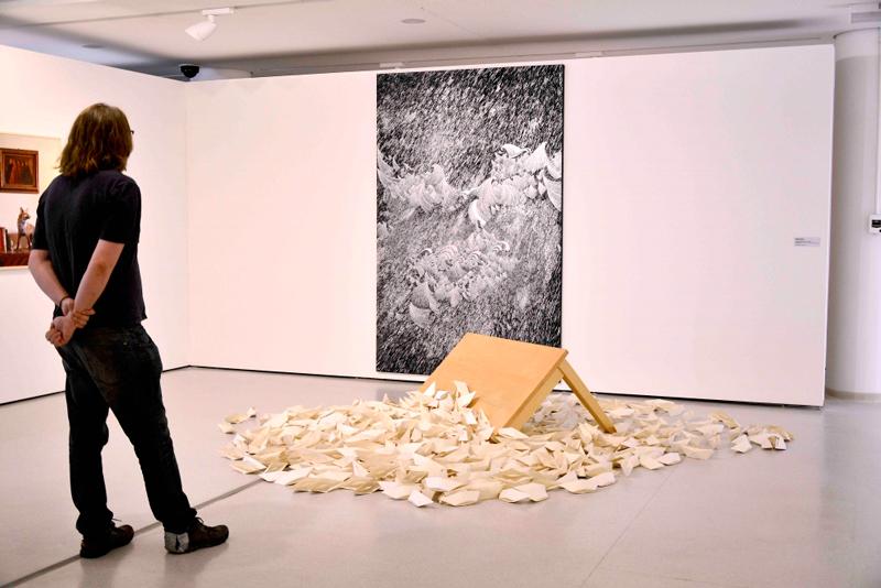 Obra de Sandra Cinto no museu de arte contemporânea DE SÃO PAULO