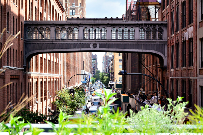 Uma vista do High Line de New York