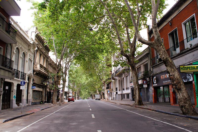 Uma rua de Montevideo