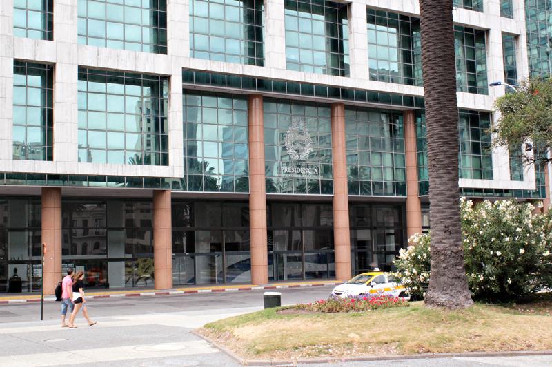 Torre Ejecutiva onde é a sede da presidência em Montevideo