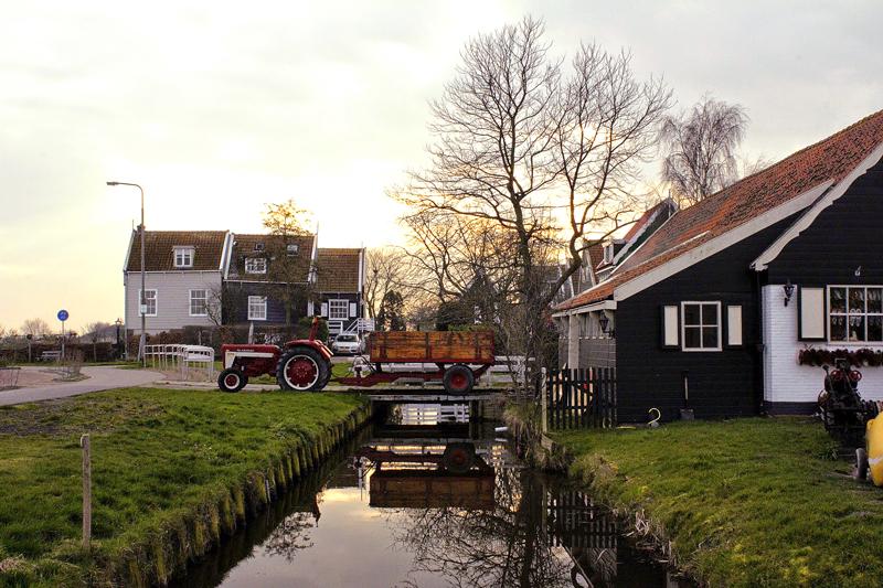vila de Marken na Holanda