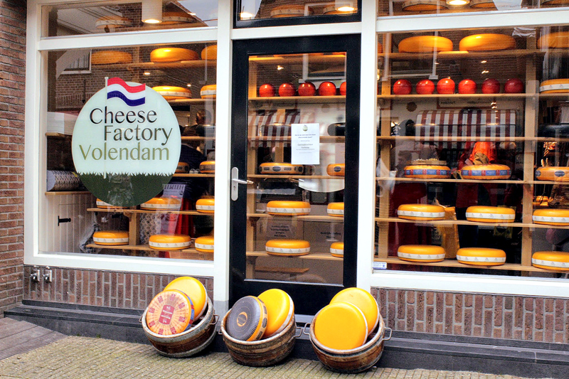 loja de queijos de Volendam na Holanda