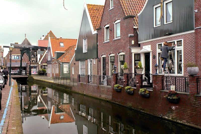 Construções de Volendam na Holanda