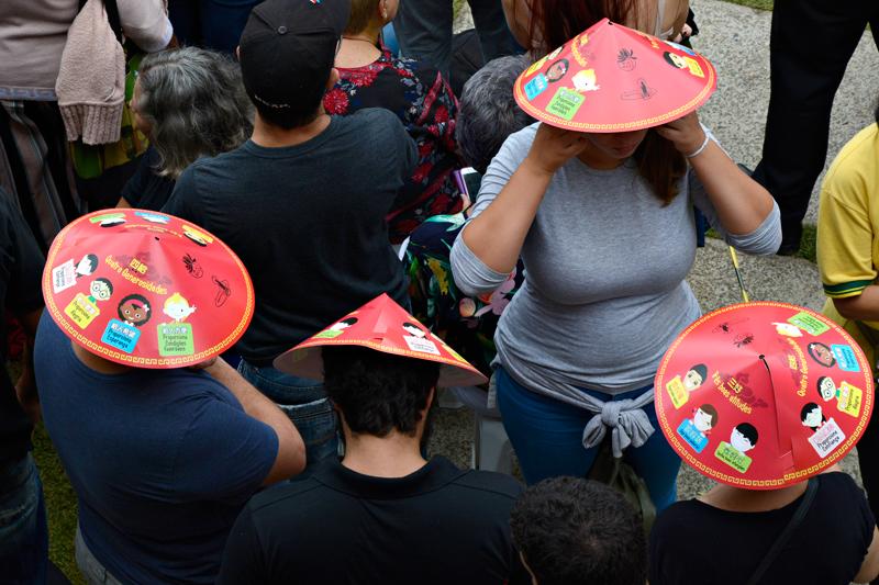 Público no Ano Novo Chinês no Templo Zu Lai em Cotia São Paulo