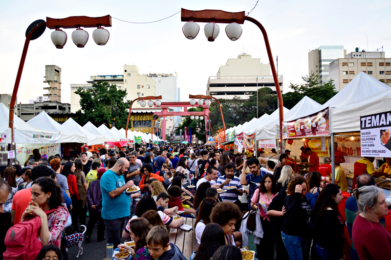 Tanabata Matsuri ou Festival das Estrelas no bairro da Liberdade em São Paulo