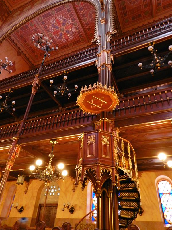 A sinagoga Dohány Utcai Zsinagóga de Budapeste na Hungria
