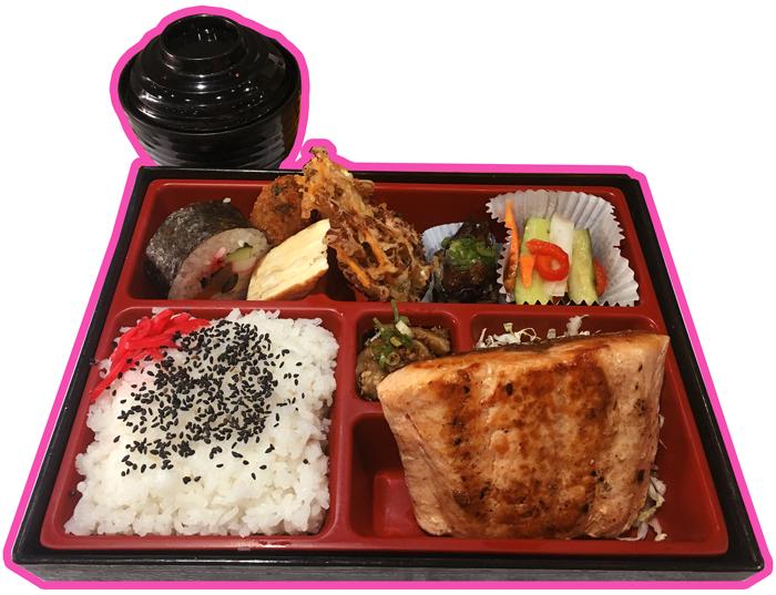Prato com salmão do Nara Obentô
