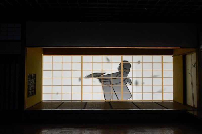 Projeção da Visualbeats das Quatro Estações do Ano no evento Japão Digital no Pavilhão Japonês