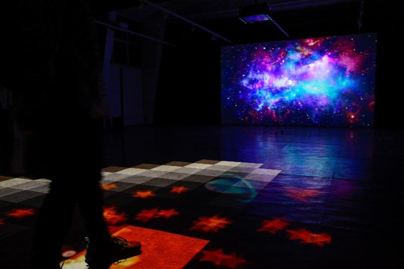 Jogo de projeção interativo da Visualbeats no evento Japão Digital no Pavilhão Japonês