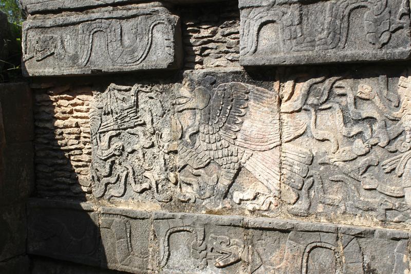 Representação de Deuses em Tulum no Yucatán Mexico