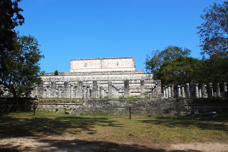 Ruínas de Mercado em Chichen Itzá no México