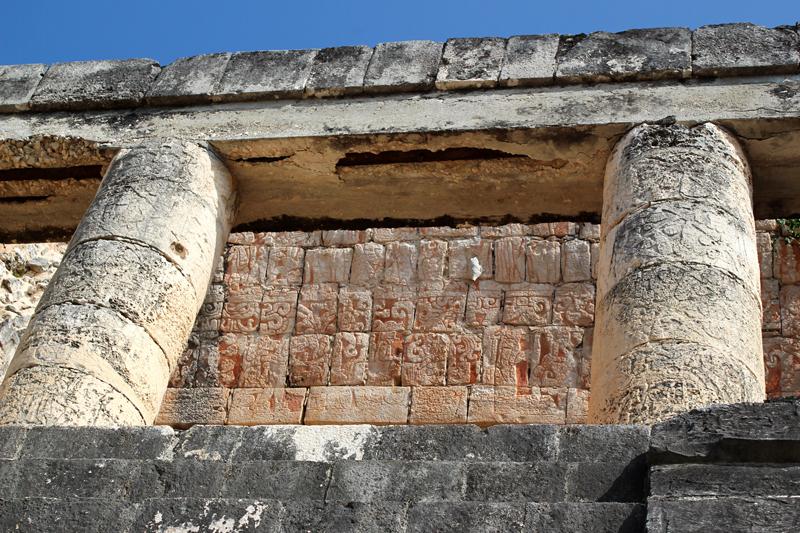 Ruínas de edificação em Tulum no México
