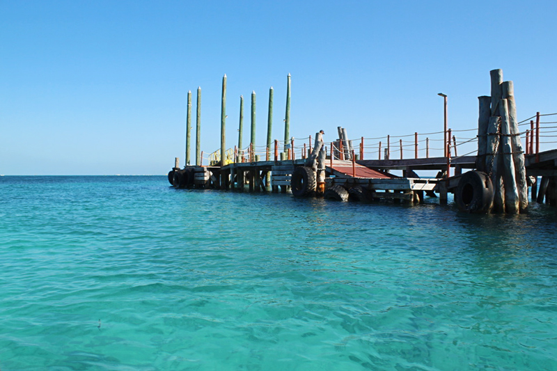Saindo de Cancun para Isla Mujeres no Mexico
