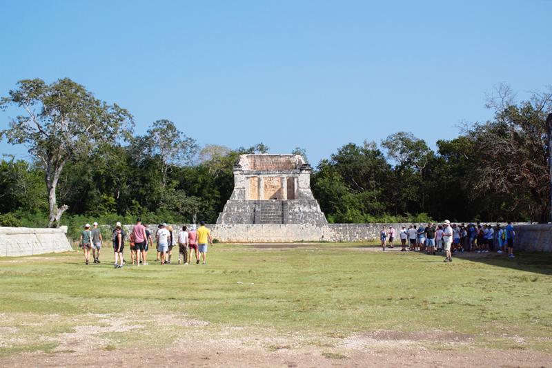 Local dos jogos em Chichen Itzá em Yucatan no Mexico